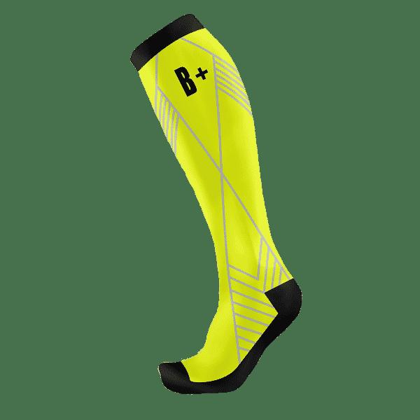 Neonově žlutá kompresní podkolenka B+2021