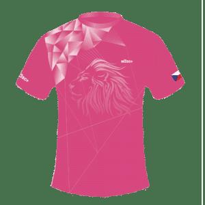 Růžový běžecký dres B+2021 a čelenka