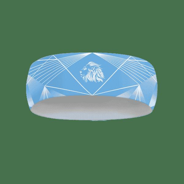 Modrá běžecká čelenka B+2021