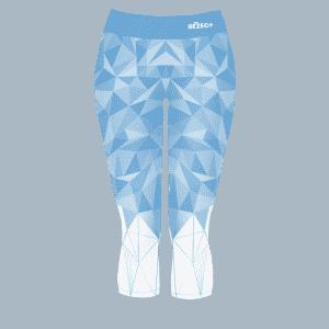 3/4 modré běžecké legíny B+2021